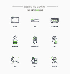 Sleep icon set vector