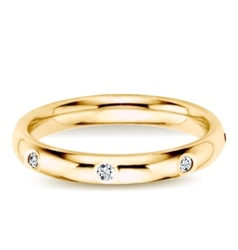 Golden ring with diamonds vector