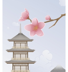 Japan background vector