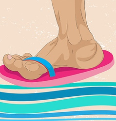 Slippers profile vector