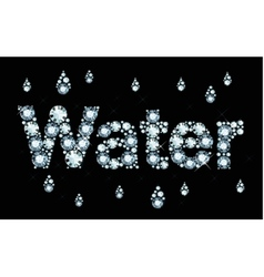 Diamond word water vector