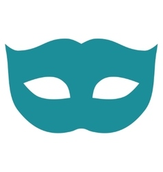 Privacy mask flat soft blue color icon vector