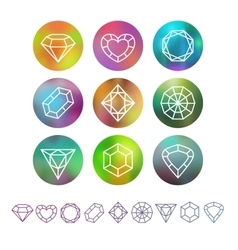 Abstract crystal monograms vector