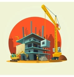 Construction cartoon vector