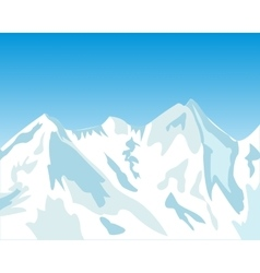 High mountains in winter vector