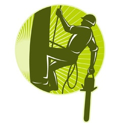 tree surgeon chainsaw vector image