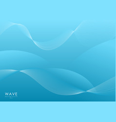 Abstract blue smooth wave vector