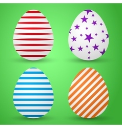 background colored eggs vector image