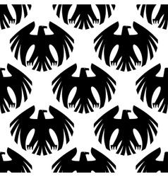 Black heraldic eagles seamless pattern vector image vector image