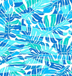 Blue abstract surf pattern in a seamless pattern vector image