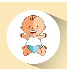Boy baby cute smiling icon graphic vector