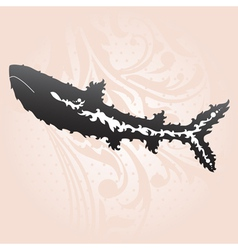 Decorative shark vector