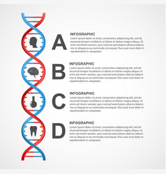 Dna science infographics design element vector