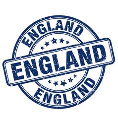 England blue grunge round vintage rubber stamp vector