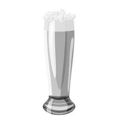 Glass of beer icon gray monochrome style vector