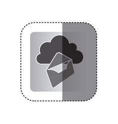 Gray cloud letter network icon vector