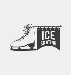 ice skating logo vector image vector image