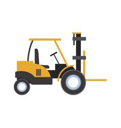 loader forklift truck cargo logistic equipment vector image