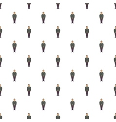 Man in a police uniform pattern cartoon style vector