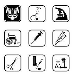 medical icons with white background vector image