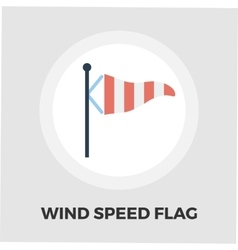 Meteorological tower icon flat vector