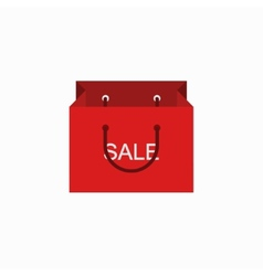 Modern shopping sale icon on white vector