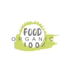 Orgnic food label design vector