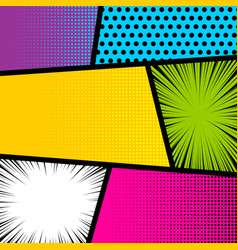 pop art comic book strip background vector image vector image