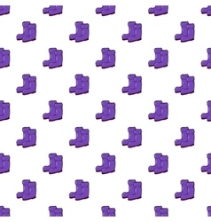 Rubber boots pattern cartoon style vector