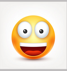 Smileyhappy emoticon yellow face with emotions vector