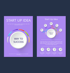 start up idea way to success vector image
