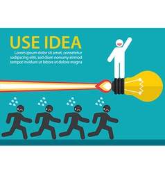 Use creative idea vector image vector image