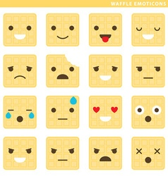 Waffle emoticons vector image vector image