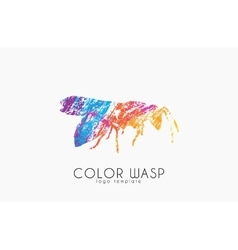 Wasp logo design Color wasp design Creative logo vector image vector image