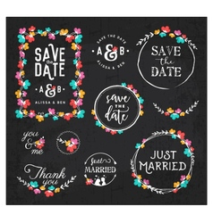 Wedding design elements for invitations vector