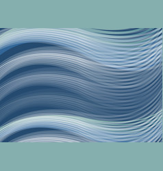 White waves of dark blue background abstract vector