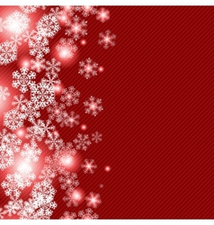 Christmas winter snowflakes background vector image
