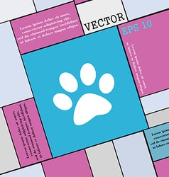 paw icon sign Modern flat style for your design vector image