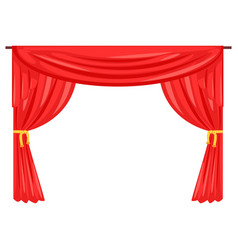 Theater stage drape curtain vector