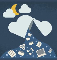 Data leak cloud computing technology vector