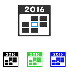 2016 calendar day flat icon vector