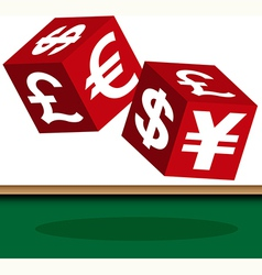 Currency dice vector