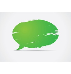Brush painted speech bubble vector image