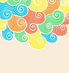 Hand drawn ornamental background vector