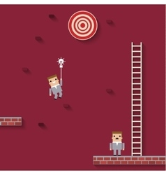 business like a game on red vector image