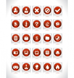 website interface buttons vector image