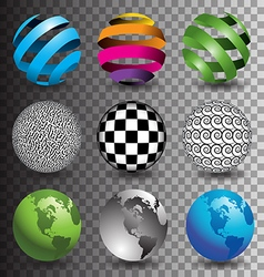 Transparent bg spheres vector