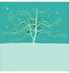 Spring tree background vector
