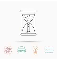Hourglass icon sand time starting sign vector