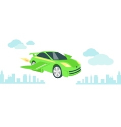 Car of future icon flat isolated vector